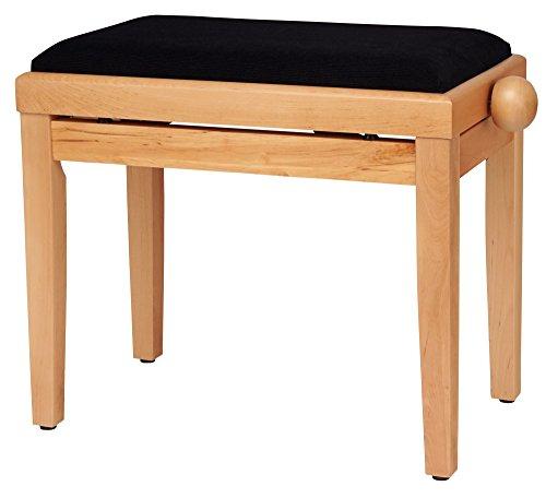 Classic Cantabile Pianobank Kirsche-matt (Höhenverstellbar von 47-56cm, Spindelmechanik, Sitzfläche 55 x 32cm, schwarzer Velourbezug, stabil) -