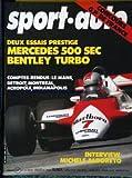 SPORT AUTO [No 246] du 01/07/1982 - DEUX ESSAIS PRESTIGE : MERCEDES 500 SEC. BENTLEY TURBO. COMPTES-RENDUS : LE MANS, DETROIT, MONTREAL, ACROPOLE, INDIANAPOLIS. INTERVIEW : MICHELE ALBORETO.