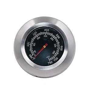 GFTIME Cara de 7,6 cm con un vástago de 4 cm Termómetros para barbacoas y Fumadores Termómetro para Barbacoa Medidor de…