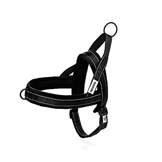 DEXDOG EZHarness Special Edition Fleece Dog Harness by On/Off Quick | Easy Step In | Walk Vest (Small, Black)