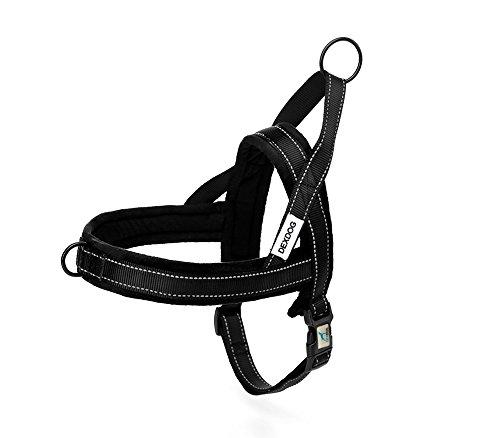 DEXDOG ezharness Special Edition Fleece Hundegeschirr von Off Schnelle | Einfache Schritt in | Walk Weste, X-Large, Schwarz -