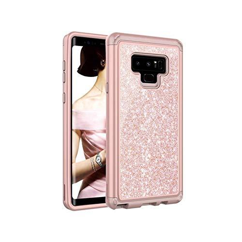YouN Bling Puder Silikon-PC-Telefon-Kasten für Samsung Galaxy Note 9 (Roségold) - Telefon-kästen Aus Bling