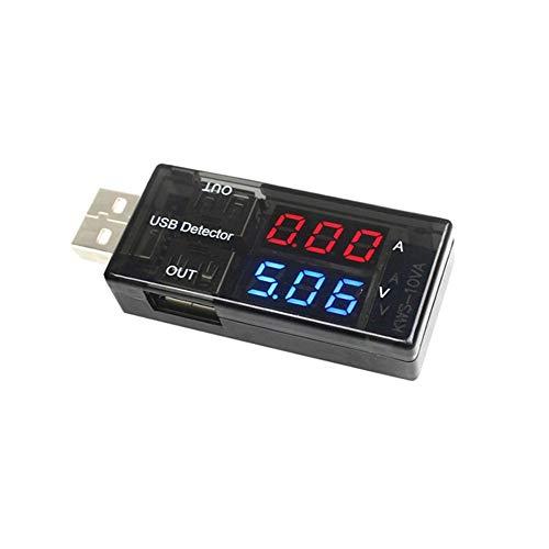 Mcottage USB Ladegerät Detektor Strom Spannung Strom Tester Doppel- Digitalanzeige Volt Ampere Meter für Android Handy und Iphones (Ampere-meter)