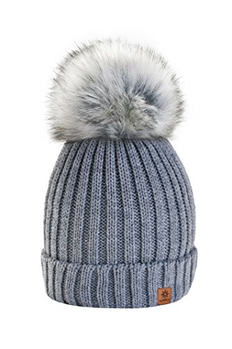 cf31d14e1e6 4sold Rita Womens Girls Winter Hat Wool Knitted Beanie with Large Pom Pom  Cap Ski Snowboard Hats Bobble - Buy Online in KSA. Apparel products in  Saudi ...