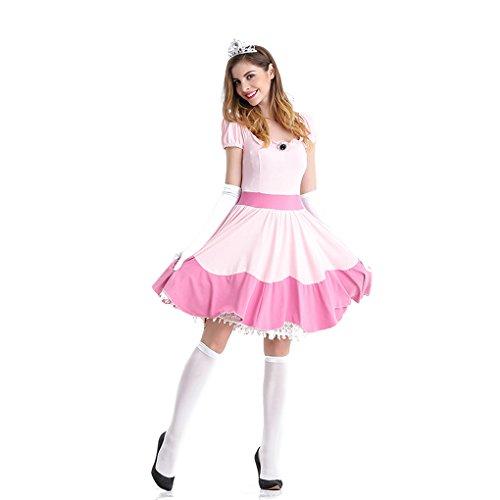 LOLANTA Rosa Prinzessin Kostüm für Damen (Peach Kostüm Für Erwachsene)