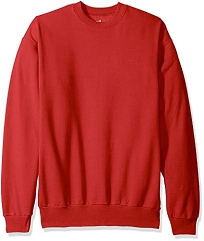 Hanes ComfortBlend Long Sleeve Fleece Crew - Deep Red p160 XL
