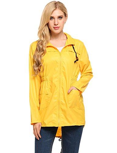Chubasquero 3/4 con capucha amarillo