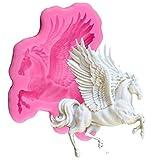 3D Pegasus Form Silikon Form Pferde Süßigkeiten Schokolade Fondant Formen Sugarcraft Kuchen Dekorieren Werkzeuge Seife Fimo Ton Form Silikon Backform Backform Dessert Backblech