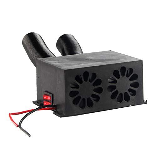 Wakauto Auto heizung 12 v Auto defogger windschutzscheibe defroster Auto elektronische heizung Fan schnelle heizung demister für Autos LKW Bus Van (schwarz)