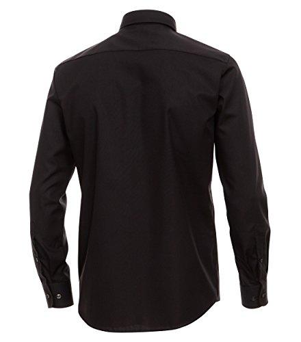Casa Moda - Modern Fit - Bügelfreies Herren Business Langarm Hemd, Button-Down, in verschiedenen Farben (006563) Schwarz (800)