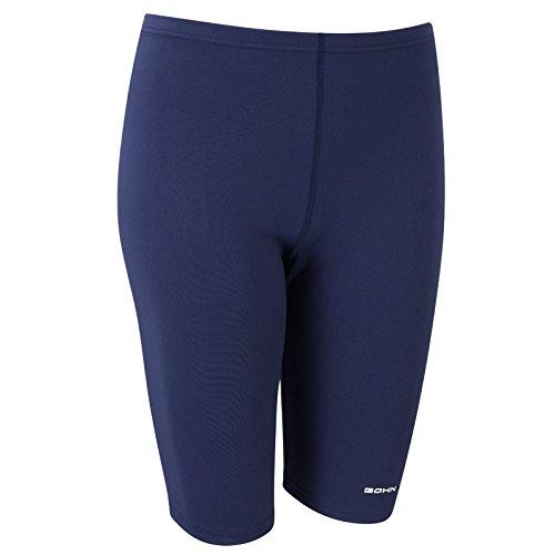 Knielange DamenSchwimmleggings von Bohn Swimwear in Schwarz und Dunkelblau  in den Größen 36 52 Blau