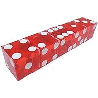 TAOHOU Dadi da Casino 19 mm con i Numeri di Serie dei Bordi Traslucido Chiaro D6 Dado Rosso