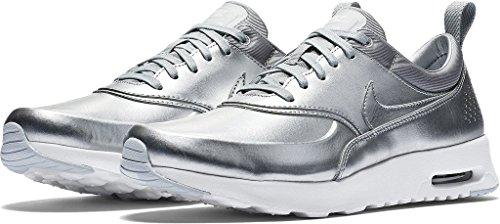 Air Max Silber Nike (Nike Damen W Air Max Thea Metallic Turnschuhe, Plateado (Mtllc Slvr/Mtllc Slvr-PR Pltnm), 42 1/2 EU)