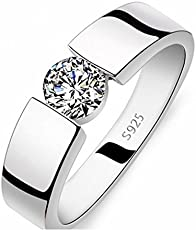 Magic Stones 18Ct Platinum and Rhodium Plated Women Love Ring for Valentines Day
