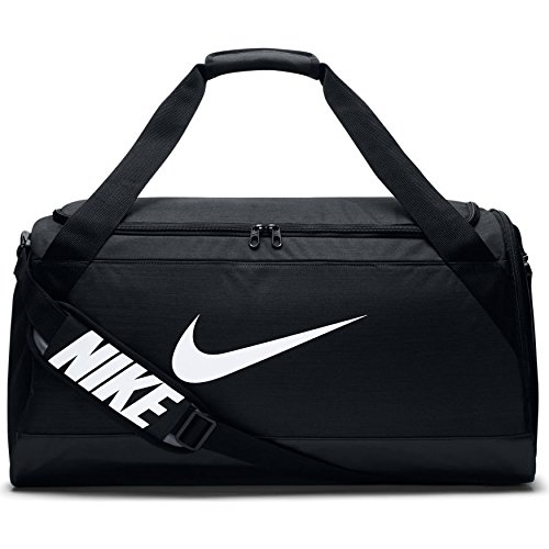 Nike Brasilia Sporttasche, Black/Black/White, 51 x 25.5 x 28 cm, 41 L