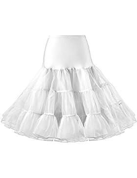 LIDORY 50s Petticoat knielang Vintage Retro Reifrock Unterrock Underskirt Crinoline für Wedding Bridal Rockabilly...