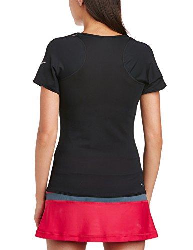 Nike Advantage T-Shirt manches courtes Femme Noir/ Blanc