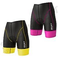 Seleccione las mujeres pantalones cortos de alimentación de triatlón Tri pantalones cortos Ciclismo Tri Run Swim Short, Infantil mujer, amarillo