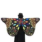 Saoye Fashion Tela suave Alas de mariposa Hadas Damas Accesorios de disfraces Fácil De Igualar Fiesta Cosplay Acogedor Cabo (Color : B-Black, Size : 145x65CM)