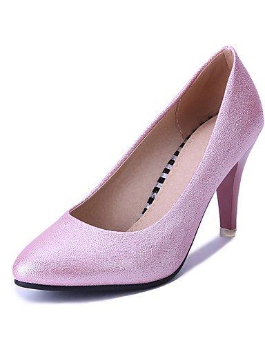 WSS 2016 Chaussures Femme-Mariage / Habillé / Soirée & Evénement-Bleu / Rose / Argent-Talon Cône-Bout Pointu-Talons-Similicuir blue-us8 / eu39 / uk6 / cn39