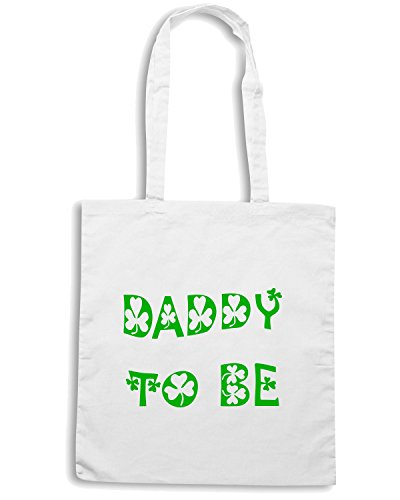 T-Shirtshock - Borsa Shopping TIR0028 daddy to be irish white tshirt Bianco