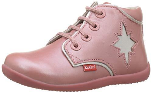 Kickers Birock, Botas para Bebés, Rosa Rose Metallise 13, 23 EU