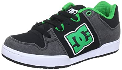 DC Shoes DC Shoes – Schuhe – Turbo 2 Youth Shoe – d0302862b-brsd – Black d0302862b – Chaussures de skate en cuir pour enfant - - Noir/vert, 32.5 EU