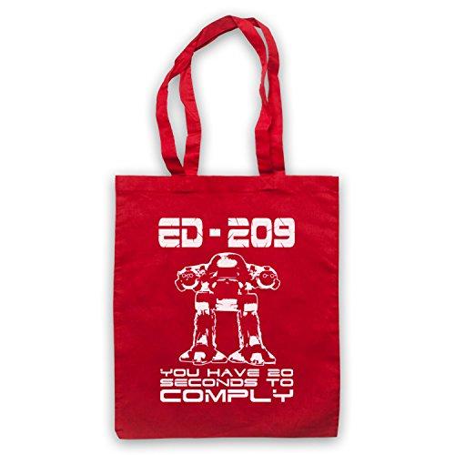 Inspiriert durch Robocop ED 209 Inoffiziell Umhangetaschen Rot