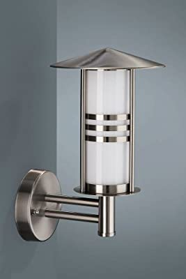 162284755.1195 Energiespar Leuchte Edelstahl Opalglas von Massive bei Lampenhans.de