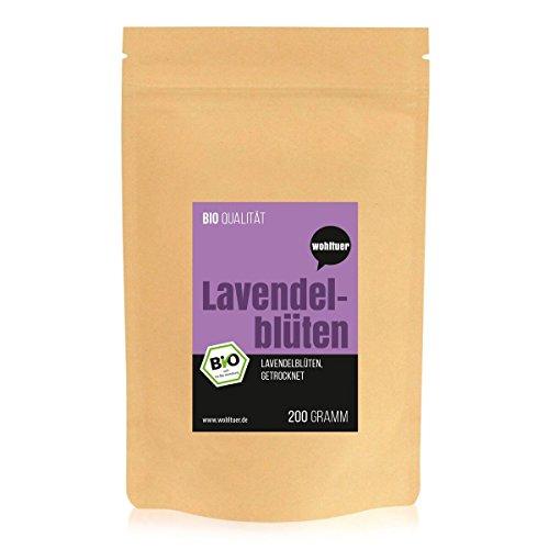 Wohltuer Bio Lavendelblüten 200g I Beste Bio-Qualität aus Frankreich I Für Lavendel-Tee, als Wellness Bad oder als Duft (Tee Care Special)