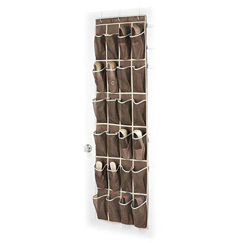 Ticent über der Tür Schuh-organisator, 24 Taschen Mesh Schuhorganisator Schuhe Aufhängen, 45cm x 150cm, Java (Veranstalter Schuh Schrank)