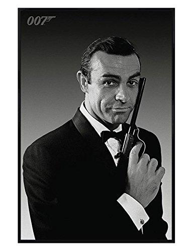 Pyramid International James Bond Affiche encadrée Noir brillant Sean Connery est James Bond Poster, Affiche (61 cm x 91,5 cm