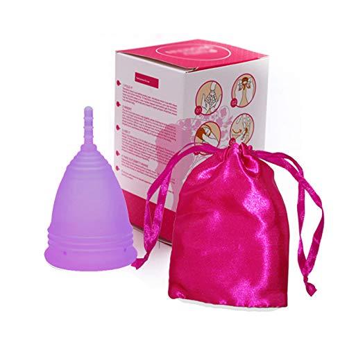 Copa Menstrual,Talla S Morado,Tazas menstruales silicona