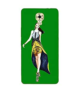 Girl on Ramp 3D Hard Polycarbonate Designer Back Case Cover for Gionee M6 Plus