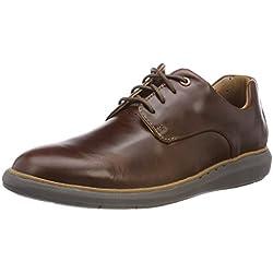 Clarks Un Voyageplain, Zapatos de Cordones Derby para Hombre, Marrón (Mahogany), 41 EU