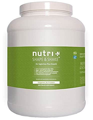Nutri-Plus Shape & Shake Vegan Neutral 2kg - Without sweetener, lactose, cholesterol and