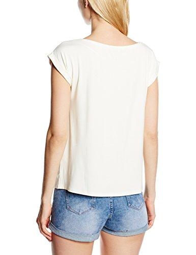 Mexx Damen T-Shirt Elfenbein (Papyrus 134)