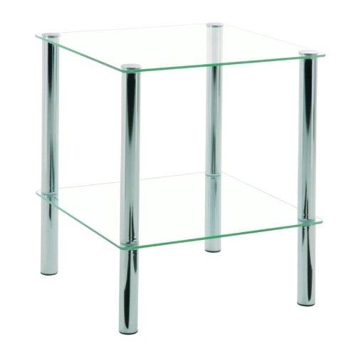 HAKU Möbel 90238 Beistelltisch 39 x 39 x 47 cm, chrom