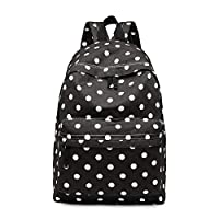 Miss Lulu Women Girls Canvas Backpack Rucksack School Shoulder Bag Unicorn Butterfly Polka Dots Horse Cat Fish Elephant Pow Cartoon Prints