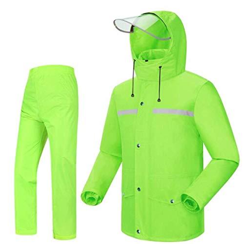 GR/Regen-Klage for Frauen Wiederverwendbare Regen Erwachsene mit Kapuze Arbeiten im Freien Motorrad Golf Fischen Wandern Grid Futter (Color : A, Size : XXXL) -