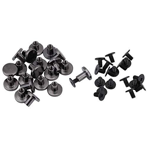 20 sets DIY Messing Flachkopf Gurtband Nieten Schraube für Gepäck Lederhandwerk