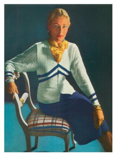 #1456 CRUISER VINTAGE KNITTING PATTERN (English Edition) -