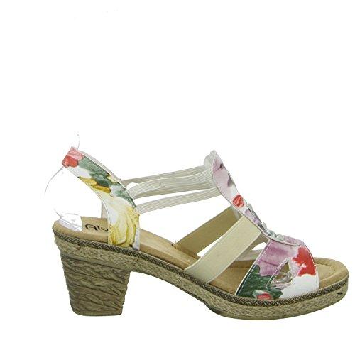 Alyssa A591-60 Damen Sandalette eleganter Boden Mehrfarbig (Mehrfarbig)
