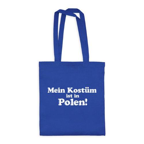ltasche Mein Kostüm ist in Polen! 20drpt15-bwt00374-18 Textil brightroyal / Motiv weiss - 42 x 38 cm (Kostüm Femme Xviii)