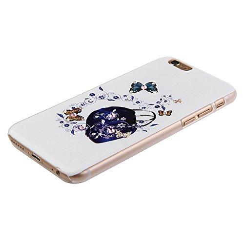 Ukayfe Ultra Slim Hard Plastica Custodia Protettiva Shell Case Cover per iphone 6 Plus, Scarpe col tacco alto Painted Intarsiato Lucido Diamante di Scintillio Assorbimento egli urti della Copertura de Borse