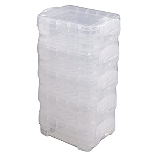 Advantus Super Stacker Pixie Box, 4 Stück, transparent (40313) 5-Pack (Bitty) farblos