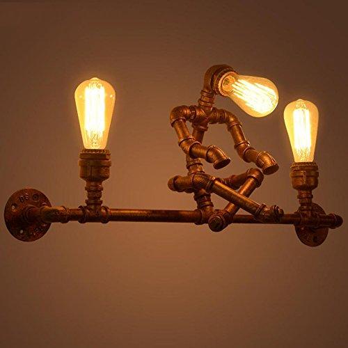 fixé au mur Café Bar Restaurant Applique, Étude Rétro Loft Industriel Vent Fer Art Mur Mur Lampe Personnalité Créative Mur Lampe