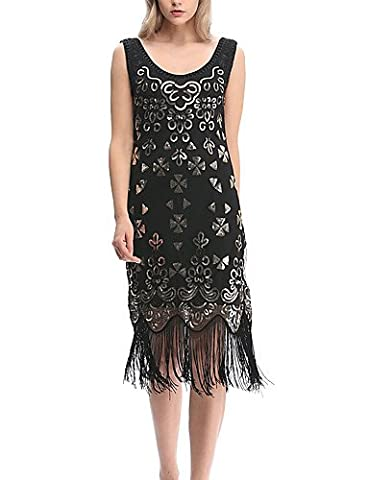 Flapper Robes Fille - ZLL Gaine Flapper (Droite) Robe Femme Sortie