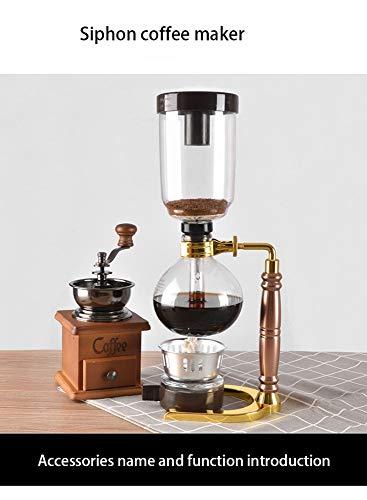 Sifón de estilo japonés Cafetera Té Sifón Olla de vacío Cafetera Tipo de vidrio Máquina de café Filtro Kahve Makinas 3Cup_bdpq