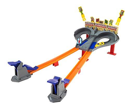 Hot Wheels Super Speed Blastway, coffret de jeu pour petites voitures avec circuit et lanceurs, jouet pour enfant, CDL49